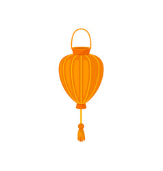 chinese paper street lantern decorative element vector image