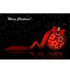 Christmas red balls on black vector