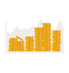 coin graph vector image