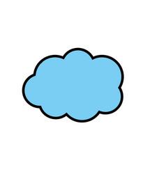 cute cloud weather design icon vector image