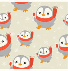 Cute penguin and wine glass editable detail of vector