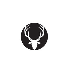 deer head logo black vector image