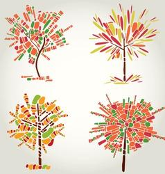Designs with decorative tree vector