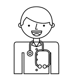 Doctor man professional icon vector