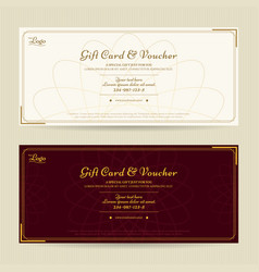 Elegant gift voucher or gift card template vector