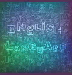 English language pattern vector