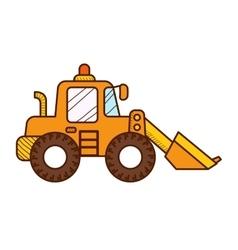 Excavator Dozer Digger Tractor vector