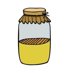 Filled jar icon image vector