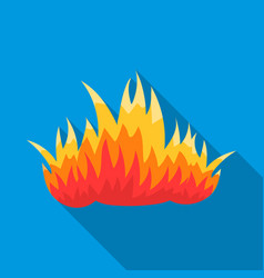 Fire icon flat single silhouette fire equipment vector