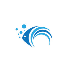 fish logo template icon vector image