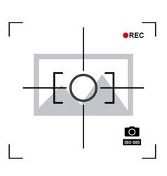 Focus camera design vector