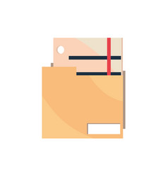 folder file papers office work business equipment vector image