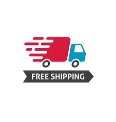 free shipping icon truck moving fast vector image