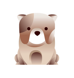 French bulldog dog stylized geometric animal low vector