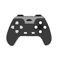 gamepad console controller vector image