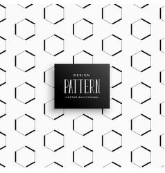 geometric hexagonal style pattern background vector image