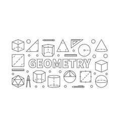 Geometry subject horizontal banner vector