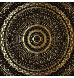 Gold Mandala Indian decorative pattern vector