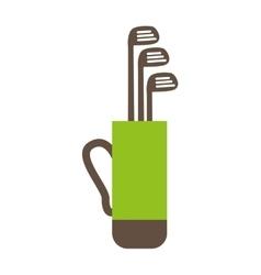 golf bag clubs icon vector image
