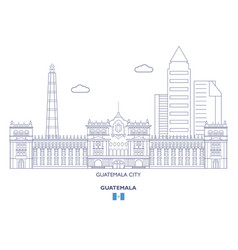 guatemala city skyline vector image