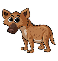 Hyena with happy face vector