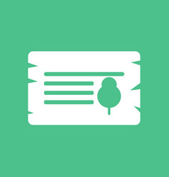 Icon paper from tree vector