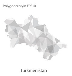 Isolated icon turkmenistan map polygonal vector