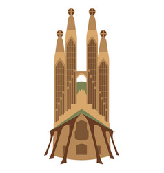 Isolated sagrafa familia church vector