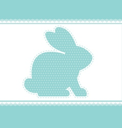 lace rabbit vector image