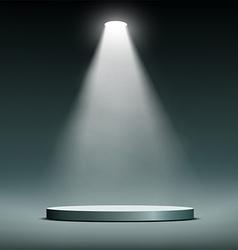 Lantern illuminates round scene vector image