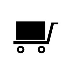 Logistic freight trolley icon vector
