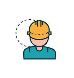 male worker with helmet work tools engineering vector image