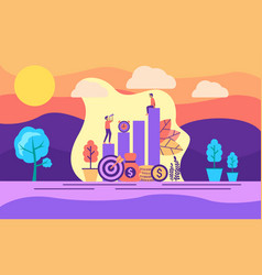 modern flat design concept investment on vector image