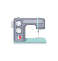 modern sewing machine isolated icon vector image