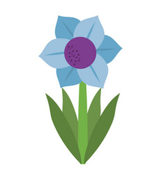 Mona lisa blue flower natural vector