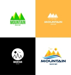 Mountain tourism logo icon vector image vector image