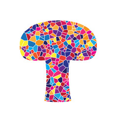 Mushroom simple sign stained glass icon vector