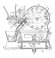 Pulp separation strainer vintage vector