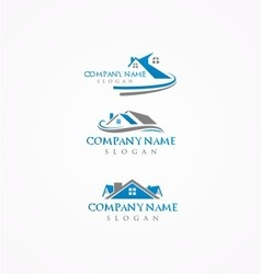 Real estate logohome bundle logo vector