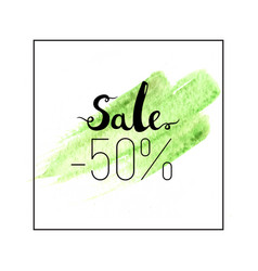 sale lettering 50 percent off vector image