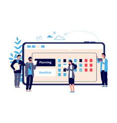 schedule concept business entrepreneurship vector image