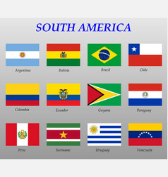 set all flags south america vector image