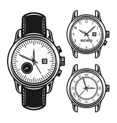 set of men mechanical watches vector image