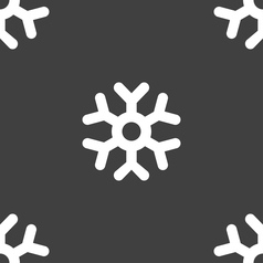 snowflake icon sign Seamless pattern on a gray vector image