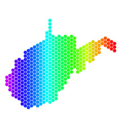 Spectrum hexagon west virginia state map vector