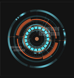 Technological communication digital interface vector