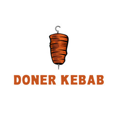 Template icon logo for doner kebab vector