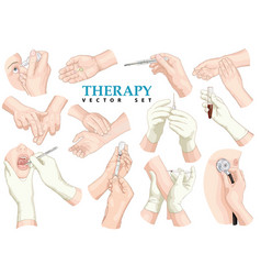 Therapy set vector