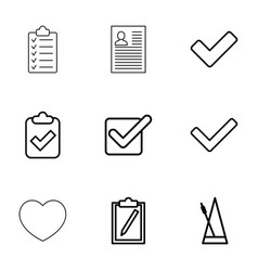 tick icons vector image