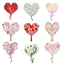 Trees in the form of heart vector image